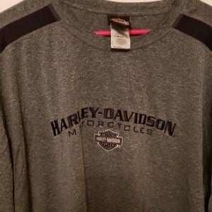Gray harley Davidson tshirt